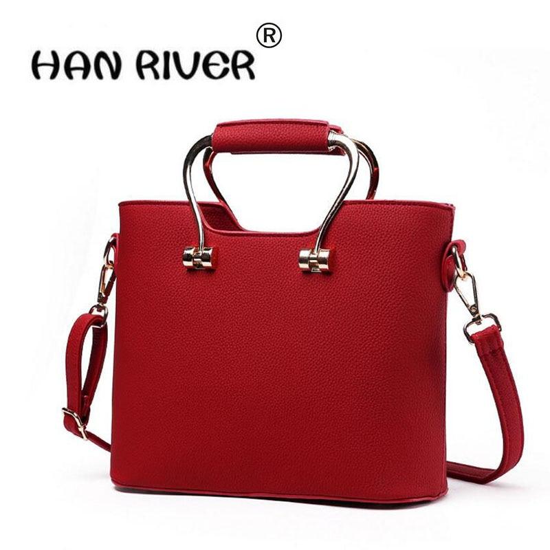 cfa167d903dd Hanriver Для женщин Сумки 2018 Новый стереотип Последняя Мода женские  тонкие сумка из искусственной кожи высокого