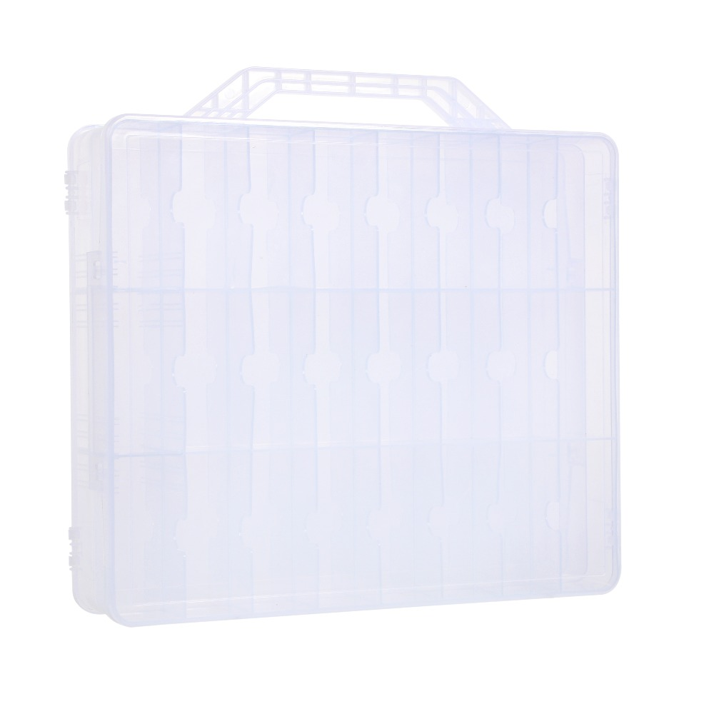 Portable and Clear Nail Polish Storage Box Double Faces Max capacity of 48 pcs adjustable Space Storage organizer of Nail Polish