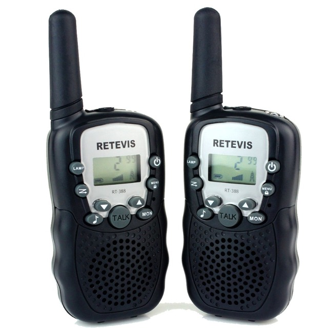 2 pcs Walkie Talkie Retevis RT-388 UHF 462.5625-467.7250MHz 0.5W 22CH For Kid Children LCD Display Flashlight VOX Radio A7027A