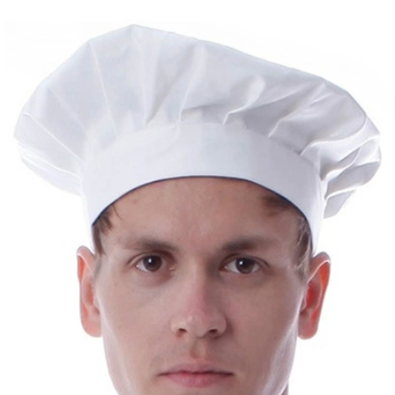 Adjustable Stretch Professional Chef Cap Kitchen Cook Catering Baker Mushroom Hat