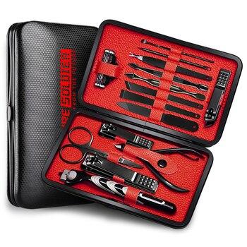14Pcs/set Pro Manicure Set Tools Shaving Razor Nails Clipper For Men Pedicure set Kit Utility Scissors Knife Nail Art kits NT149 2