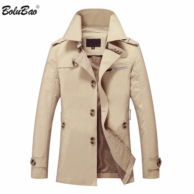 BOLUBAO New Men Autumn Jacket Fashion British Style Brand Clothing Windbreaker Warm Jacket Coat Military Male Outerwear Coat Men's Jackets & Coats