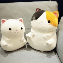 1 Piece 33/40 Cm Soft Cat Plush Toy Pillow Stuffed Animal Sofa Cushion Bed Toys Children Gift Or Bedroom Decoration