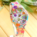 New Arrive Super Cool Fashion Quartz Watch Colorful Print Silicone Watches Women Watch Girls Floral Jelly Sports Wristwatches