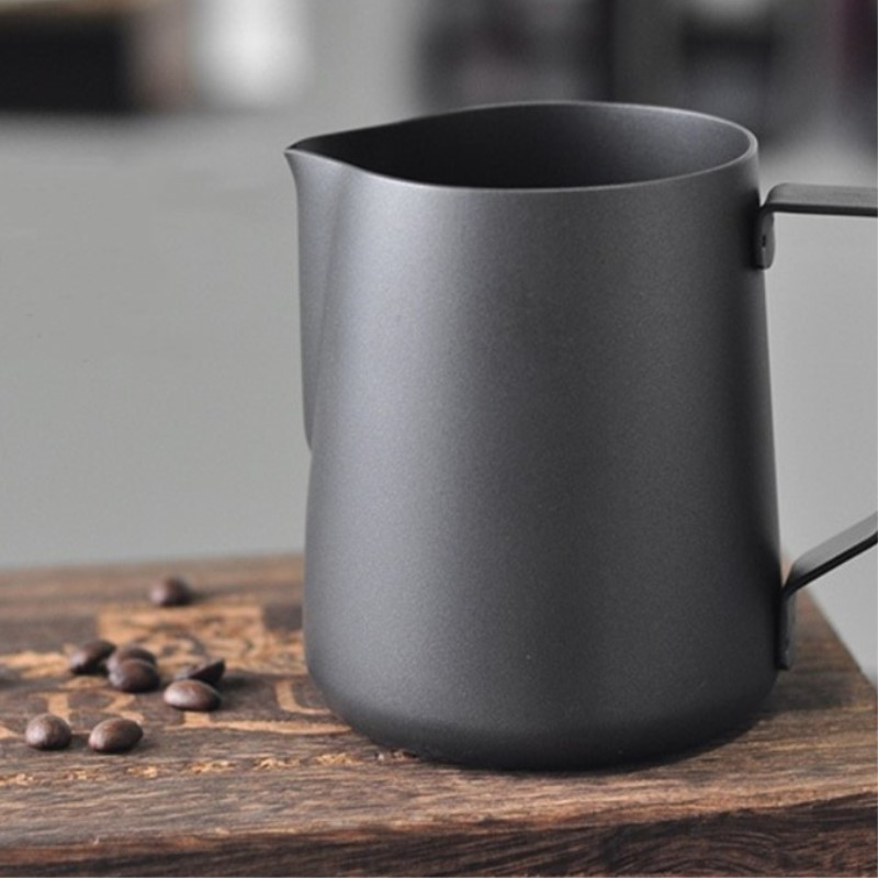 Kitchen Appliance Parts 2l Coffee Pots Espresso Coffee Milk Jugs Mugs Frothing Cup Handle Craft Coffee Garland Cup Stainless Steel Jade White