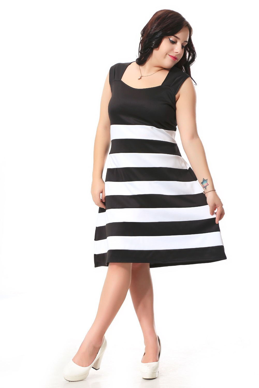 Plus Size Cute Dress Women With Sweetheart neckline design ...