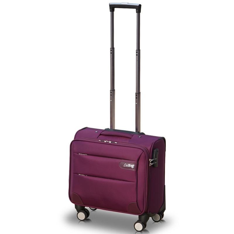 14inches mini boarding universal wheels trolley luggage commercial oxford fabric luggage female