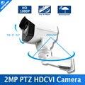 À prova d' água Segurança CCTV HD 1080 P Câmera de 2MP Mini Bala HDCVI PTZ Ao Ar Livre, 4 Pcs Leds Matriz IR 30 m, Apoio Coaxial Controle