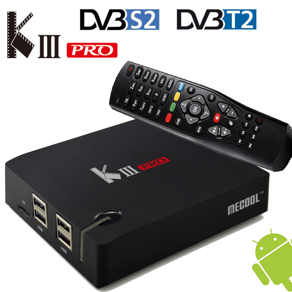 All in one Android 6.0 Hybrid DVB-T2 Terrestrial DVB-S2 Satellite Receiver Smart TV Tuner Blutooth 4.0 3GB/16GB Wifi LAN Cccam
