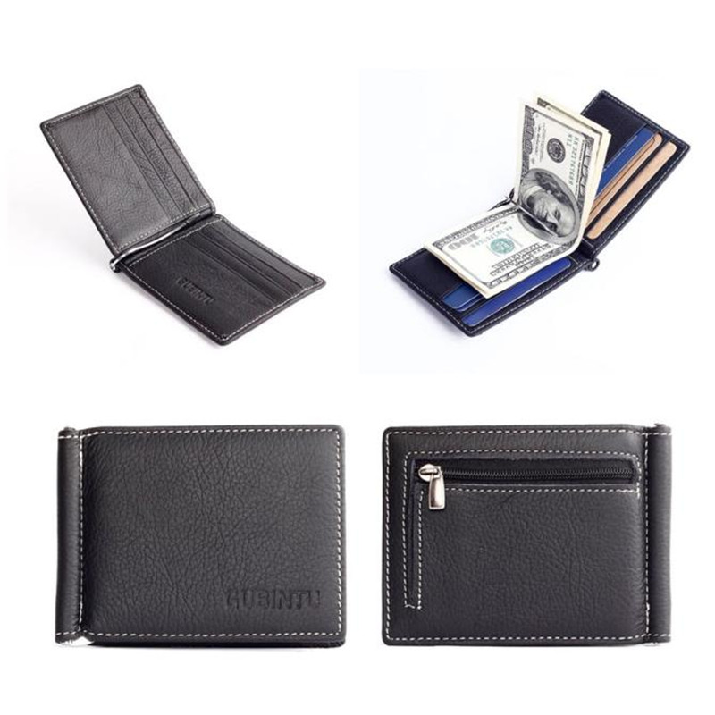 Men Stylish Bifold Business Leather Wallet Card Holder Coin Wallet Purse