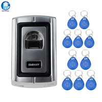 Standalone Biometric Fingerprint Access Control Keypad Fingerprint Scanner + Remote Control Keyboard for Door Lock Entry System