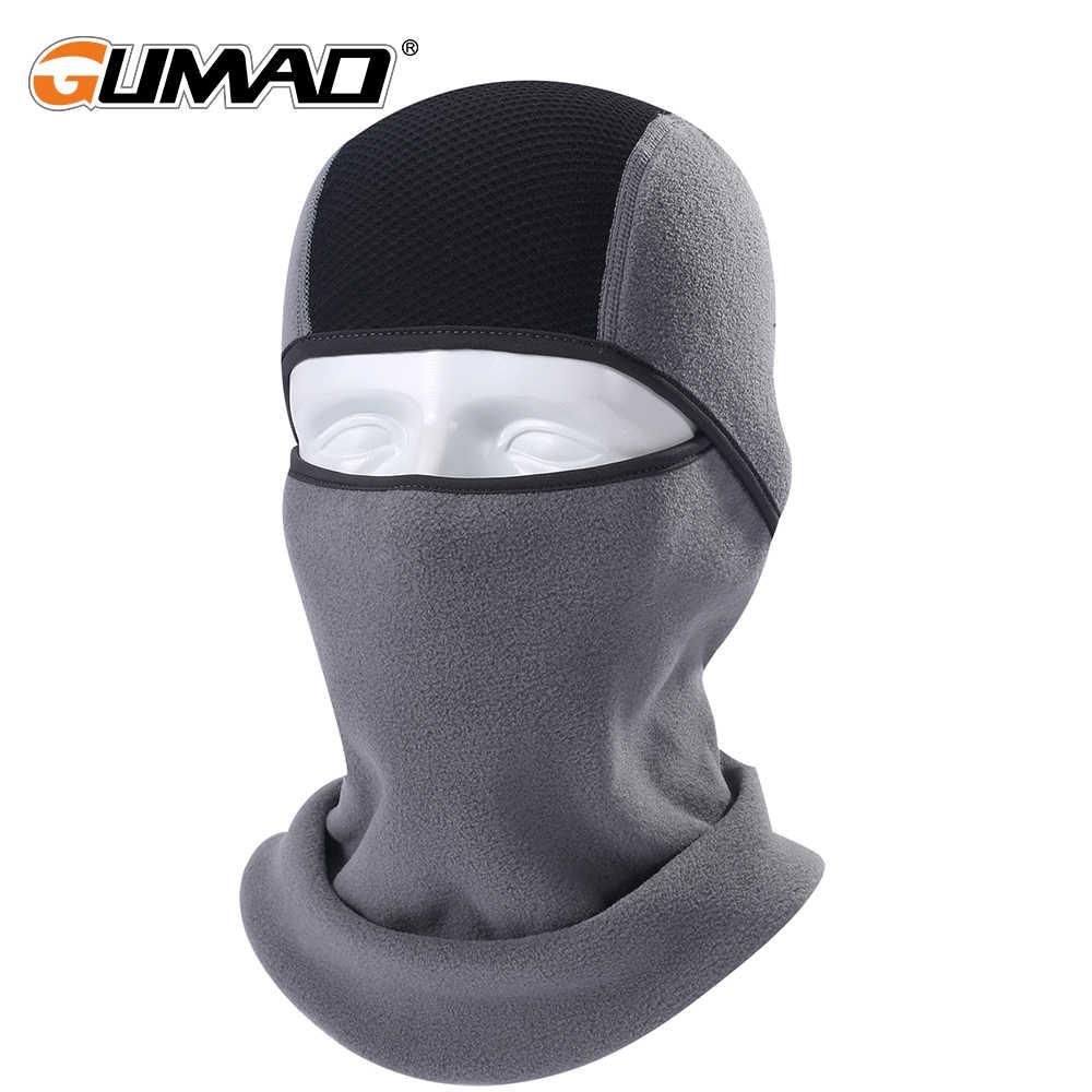 Флисовая теплосберегающая маска-балаклава, теплая маска для лица, спортивный капюшон-подкладка для лыжного спорта, велоспорта, сноуборда, шапка с защитой для лица, зима 2019