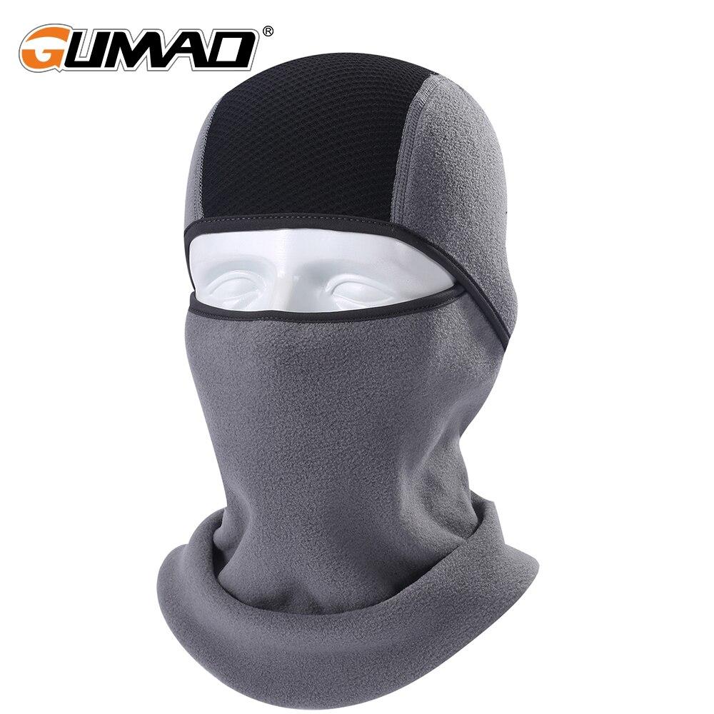 Invierno Polar térmica Balaclava máscara de cara completa caliente ciclismo capucha de Deportes de esquí bicicleta Snowboard cara escudo sombrero