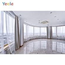 лучшая цена Yeele Round Corner Curtain Window Interior Photo Backgrounds Photography Custom Wedding Photographic Backdrops For Photo Studio