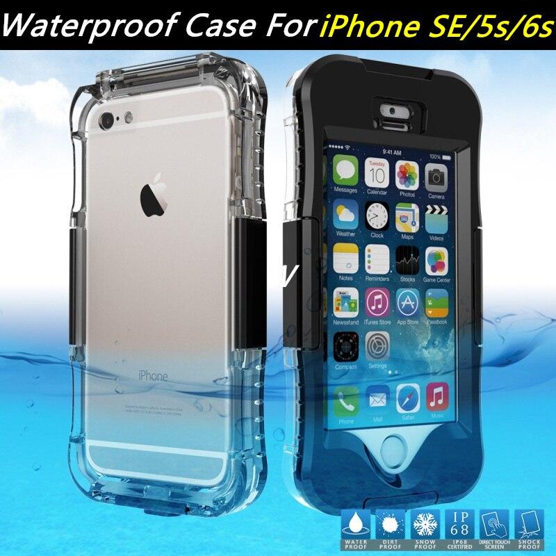 Цена за Для Apple iPhone SE случае Водонепроницаемый телефон случаях IP IP68 чехол для Samsung Galaxy S7 край крышки для Apple IPhone 6S i6 i5 плюс сумка
