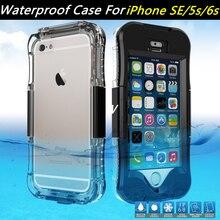 Для Apple iPhone SE случае Водонепроницаемый телефон случаях IP IP68 чехол для Samsung Galaxy S7 край крышки для Apple IPhone 6S i6 i5 плюс сумка