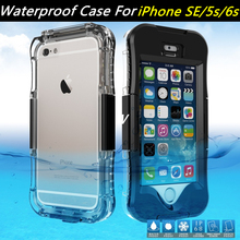 For Apple iPhone SE Case Waterproof Phone Cases IP IP68 Case for Samsung Galaxy S7 edge Cover for Apple iphone 6s i6 i5 Plus Bag