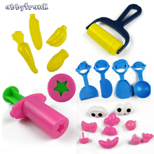 21pcs lot 3D Playdough Tool Plasticine Mold Magnetic Clay Hand Gum Tool Kit Play Dough Mold