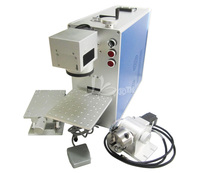 10w 20w Portable Optical Fiber Laser Marking Machine Laser Marker For Metal Wood Pvc Plastic Free