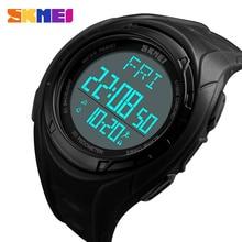цены на Skmei Luxury Brand Mens Sports Watch Double time Pedometer Calories 50M Water Resistant Wristwatch Digital LED Military Watches  в интернет-магазинах