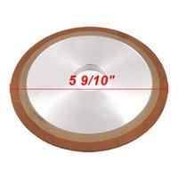 Plain One Side Tapered 180 Grit Resin Diamond Grinding Wheel 150x10x32x8mm
