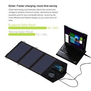 Image 4 - Carregador do telefone de allpowers 21 w 18 v movido a energia solar battey carregador do telefone móvel usb/dc carregadores para o portátil 12v do smartphone bateria de carro