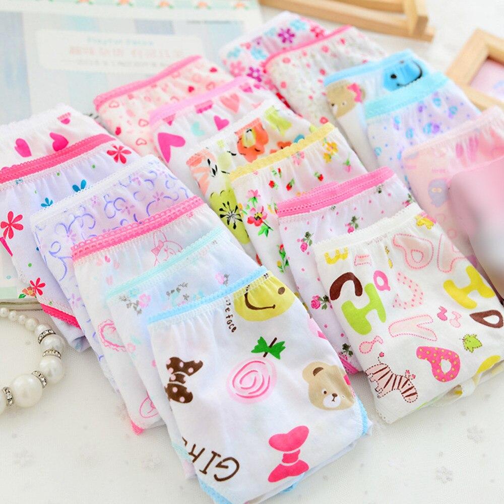 6pcs/lot Hot Fashion New Baby Girls Underwear Cotton Panties For Girls Kids Short Briefs Children Underpants
