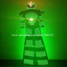 Colorful Led Luminous Stilts Robot Dance Suit Led Growing Ballroom Costume Grand Event Party Led Light