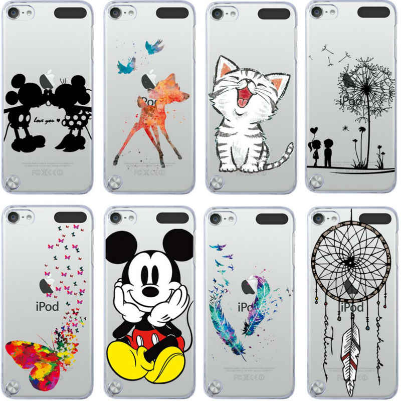 Para iPod Touch 5 funda Super Linda Mickey y Minnie Kiss gato pintado para Apple ipod touch 5 5 cubierta Coque
