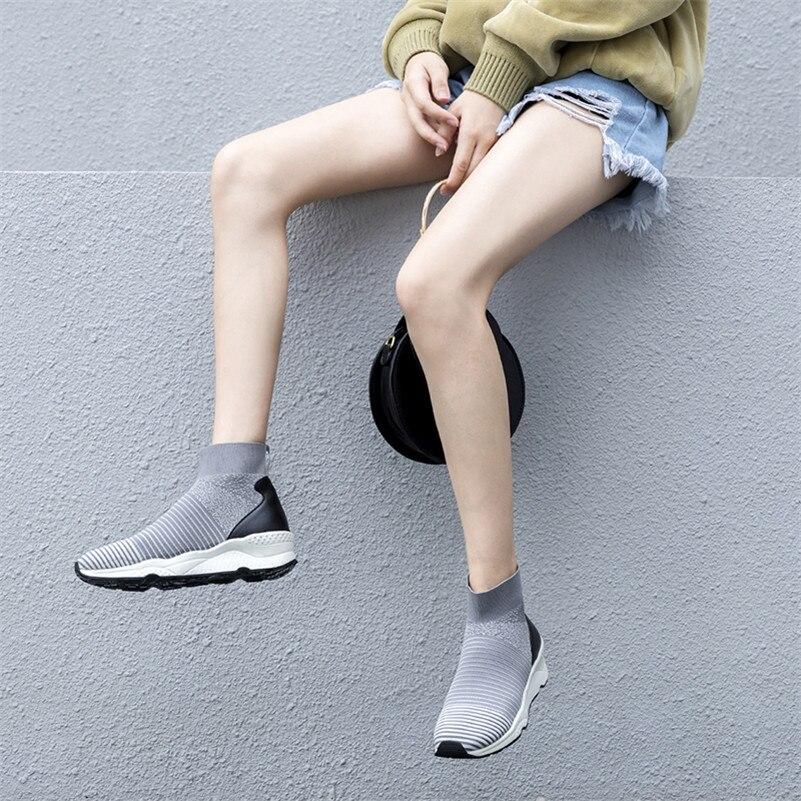 Cales 1 Bout 2 Rond Nouveau formes Chaussures Base Femme Plates Sport De Casual Respirant Cheville Fedonas Chaussettes Mode Marque Bottes BqIU4I