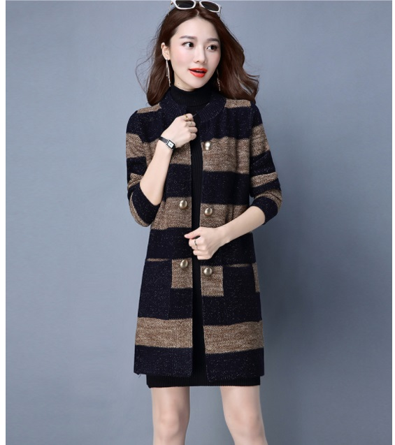 Sweaters Women Fashion Solid Knit Cardigans Sweater Ladies Long Knitted Sweaters Skirted Outwear Coat Gray Camel Color