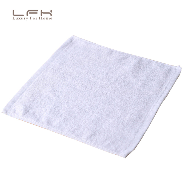 10pcs/lot 25X25CM Face Towel Small Towel 25g Hand Towel Hotel White Cotton Towel Cotton Washcloth for Women Gift