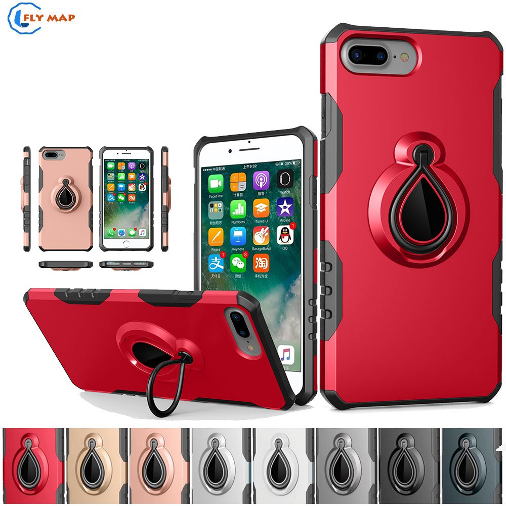 Coque For Apple iPhone 7 Plus iPhone7Plus Plastic+TPU Rotating Mobile Smartphone Case Cover For Apple iPhone7 Plus Silicone Box