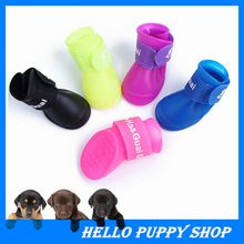 Free Shipping 4pcs/set Pet Dogs Shoes Boots Anti Slip Skid Waterproof Size S M L