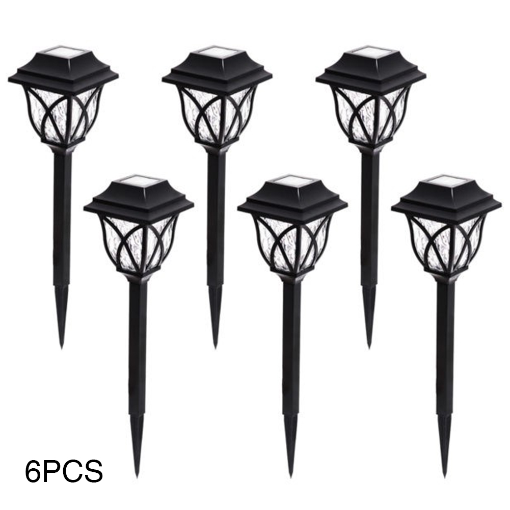 6 Pcs Lawn Lamp Pathway Decoration Solar Powered Outdoor Durable Garden Energy Saving Waterproof Yard LED Bulb Landscape Light-in LED Lawn Lamps from Lights & Lighting