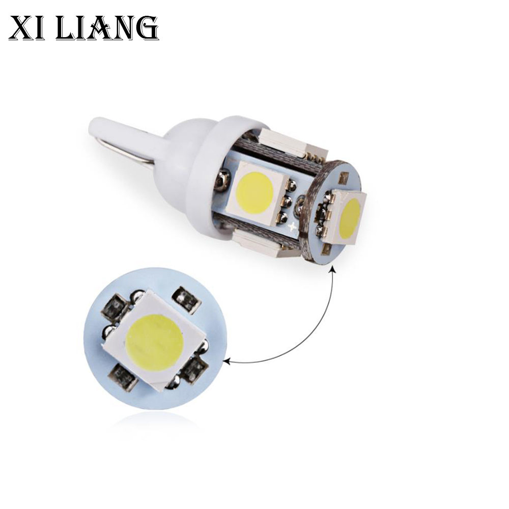 led t10 100 pcs 194 168 W5W 5050 5smd for auto car License Plate Light Auto Led Car Side Wedge Dashboard Lamp free shippping in Signal Lamp from Automobiles Motorcycles