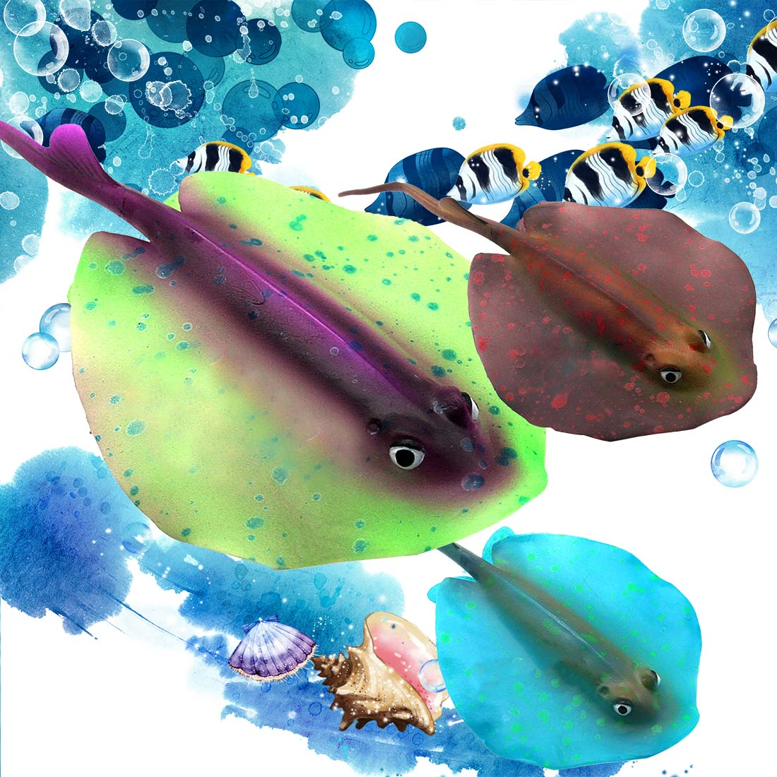 Fish aquarium online buy - New 6 Colors Of Green Microscopic Simulation Of Plastic Luminous Devil Fish Aquarium Products Simulation Of