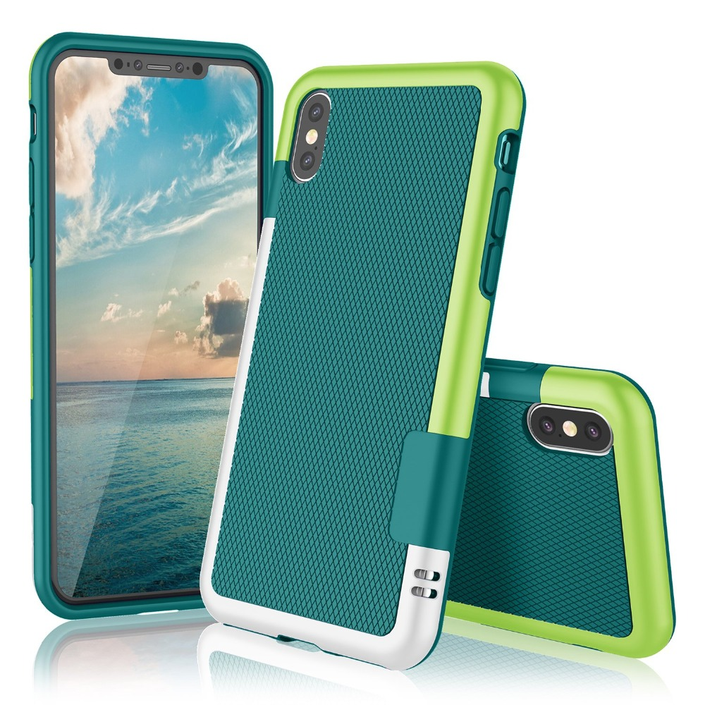 HTB1On.WRwHqK1RjSZFgq6y7JXXaa Ultra Slim 3 Color Hybrid Anti-slip Shockproof Phone Case for iphone X XS MAX XR Soft TPU Silicon Cover For iphone 7 8 6 6S Plus