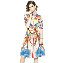 stand-up collar shirt dress button Silk high waist chinese style bandage dresses lace-up tie sexy elegant women new dress 2018