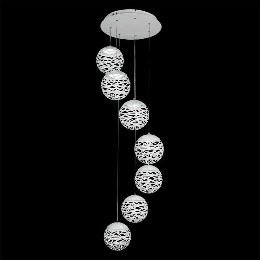 Free Shipping Modern Led Pendant Lamp White Black Painting Metal Pendant Light for Stair Dinning Living Room Hanging Lighting цена и фото
