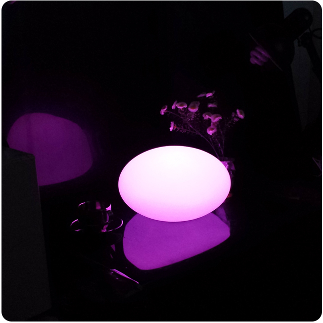 D27*H17cm Rechargeable Waterproof LED Stone Ball led plain egg ball Swimming pool for Christmas Decoration Free Shipping 4pcs