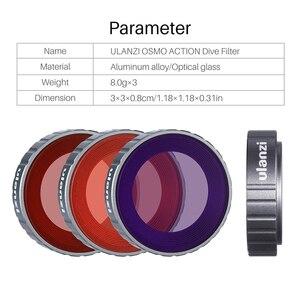Image 4 - Ulanzi Duiken Filter Kit Voor Dji Osmo Action Optische Glas Rood Paars Dive Swim Osmo Actie Camera Lens Filter Accessoires