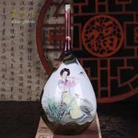 Changwuju en Jingdezhen el florero de rosa de la familia pintado por Jinhongxia como decoración del hogar