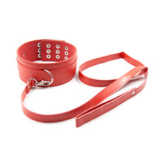 PU Leather Neck Collars and Leash Fetish Harness Bondage Restraints Flirting Sex Toys for Women Sex Love Game