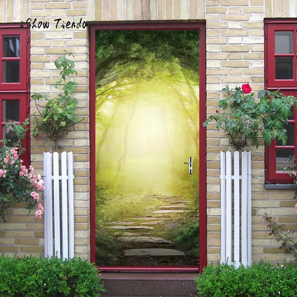 3D Door Wall Sticker Beautiful Landscape Wall Poster Home Decal Art ...