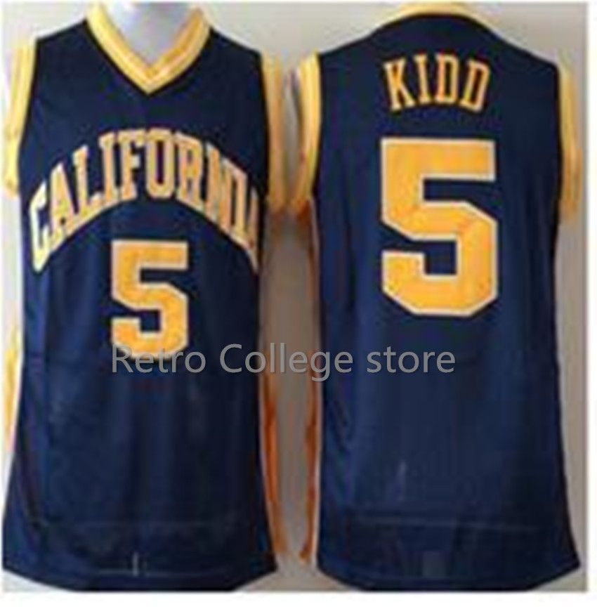 #5 Jason Kidd California Golden Bears College University Basketball Jersey any Number and name Jerseys Retro throwback College