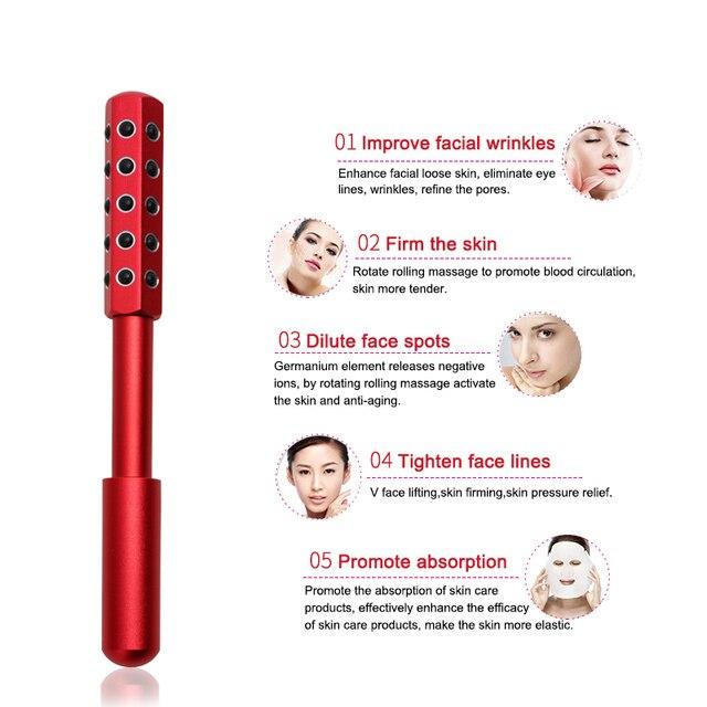 Kakusan Germanium face massager roller red facial roller massager tools for face lift  4