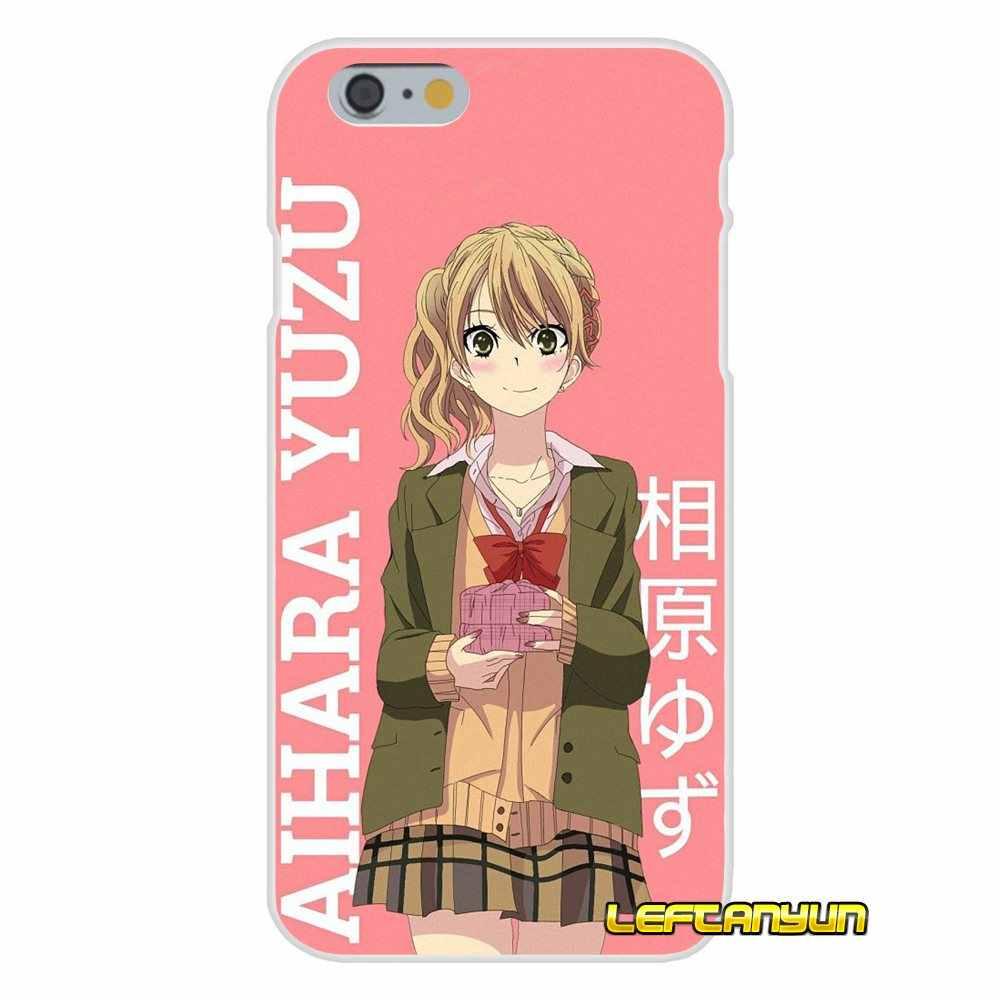 Niña de anime sexy Citrus yuzz aiharu Mei accesorios fundas de teléfono para iPhone X 4 4S 5 5S 5C SE 6 6S 7 8 Plus
