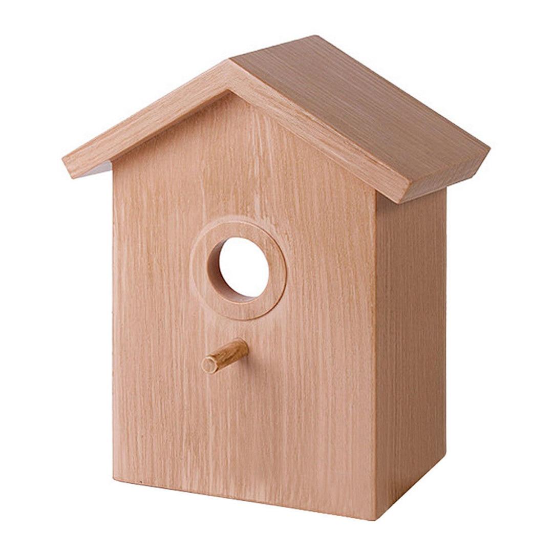 Bird House Nest Box Wooden Bird Box Wood Birdhouse Garden Hanging Decor Home DIY