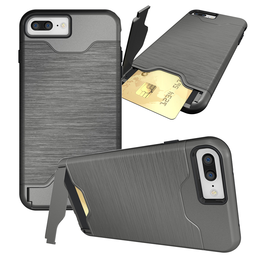 best website 7407c cddb6 US $4.89 |For iPhone 7 Plus Cases Slim Hybrid Credit Card Pocket Hidden  pouch Phone Coque PC Back Cover For Apple iPhone 7 Plus Fundas-in  Half-wrapped ...
